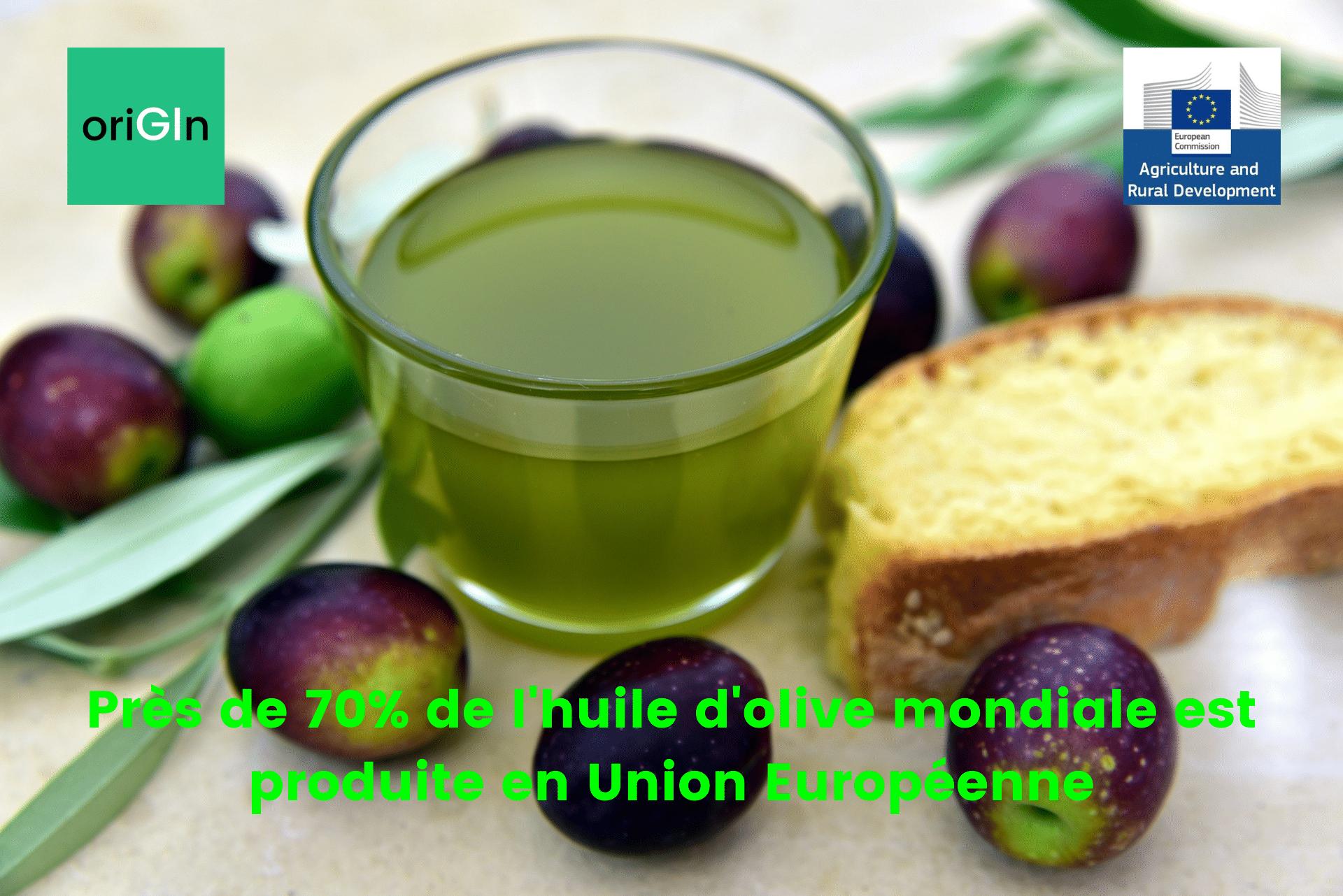 Production d'huiles d'olive en Union Européenne